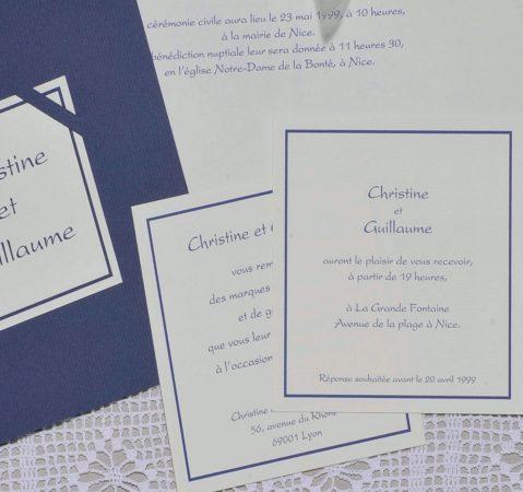 détail du Faire-part mariage Classique
