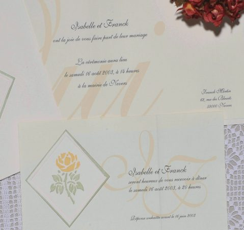 détail du Faire-part mariage Garance