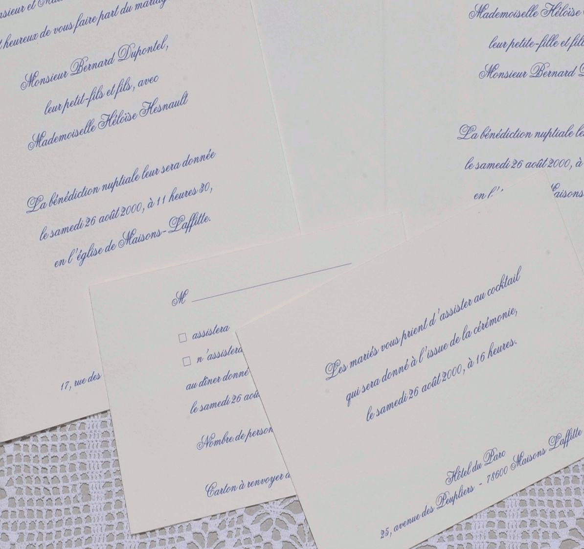 faire part mariage tradition 02 faire part calligraphie. Black Bedroom Furniture Sets. Home Design Ideas