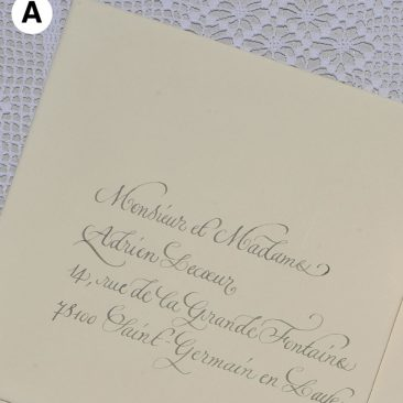Enveloppes calligraphiées en anglaise