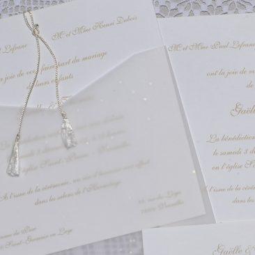 détail faire-part mariage etoiles