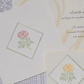 détail faire-part mariage Garance