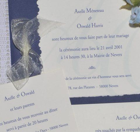 détail faire-part mariage monogramme 02