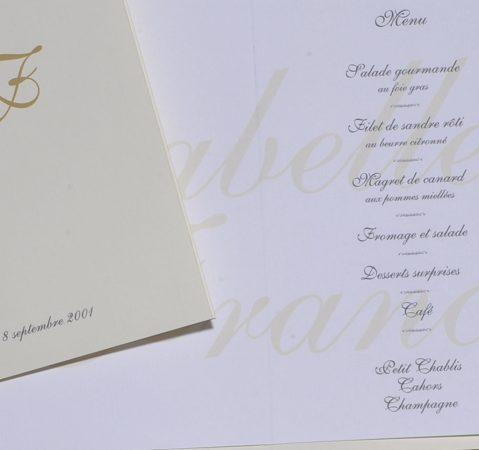 détail intérieur menu Gordes