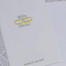 détail couverture du menu Venise