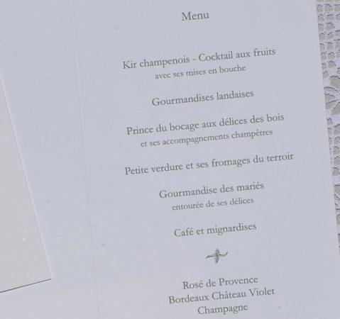 détail intérieur du menu Venise