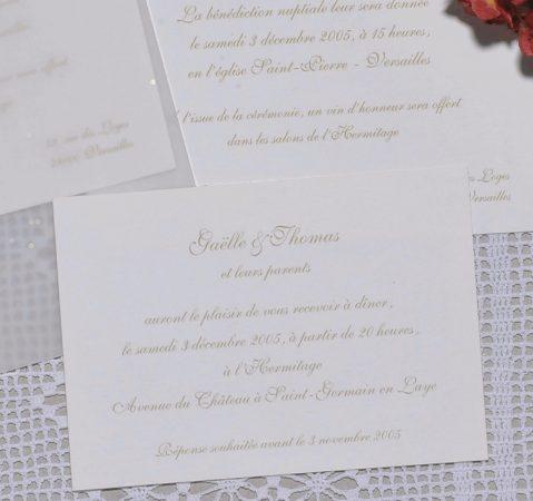 détail du faire-part mariage Etoiles