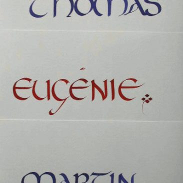calligraphie de prénoms