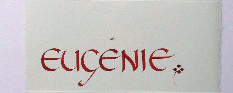calligraphie de prenoms eugenie