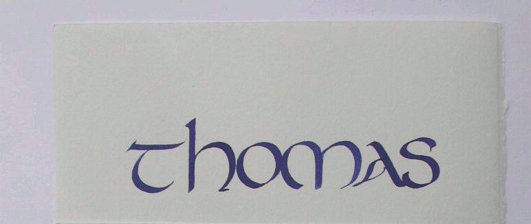 calligraphie de prenoms thomas