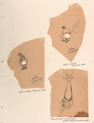 Coins de nappes griffonnées par Picasso (1944)