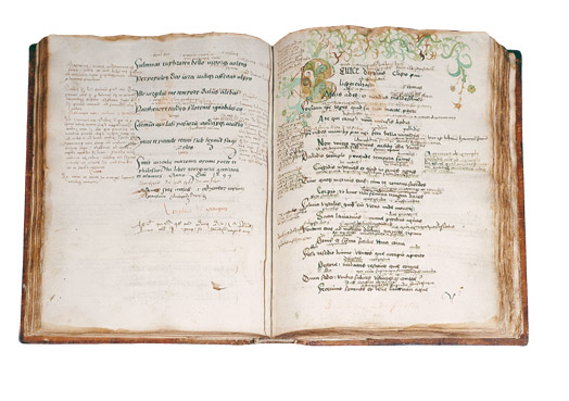 Cahier d'un écolier du 15ème siècle
