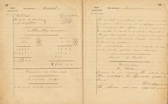 Cahier d'un écolier autour de 1890