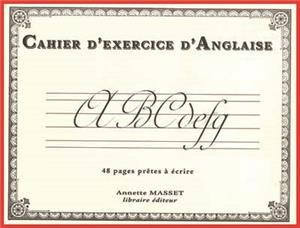 cahier d'écriture en anglaise