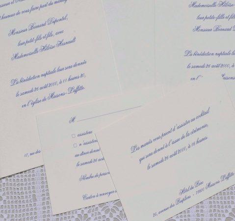 détail du Faire-part mariage-Tradition 02