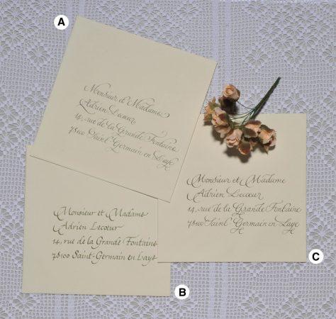 Enveloppes calligraphiées