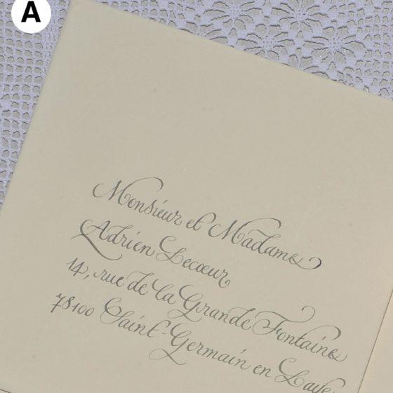 Enveloppes calligraphiées en anglaise