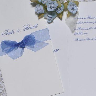 détail faire-part mariage Azur