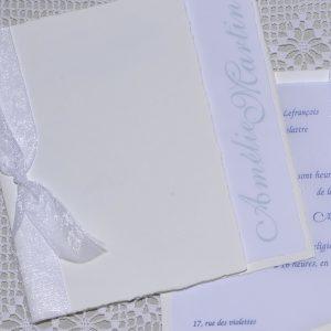 détail couverture faire-part mariage Delft