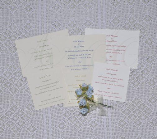 faire-part mariage Monogramme 01
