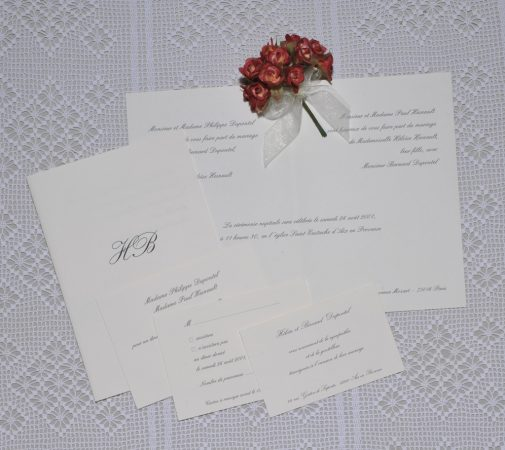 faire-part mariage Tradition 01