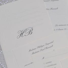 détail faire-part mariage Tradition 01
