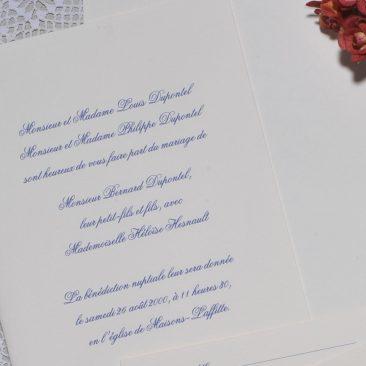 détail faire-part mariage Tradition 02