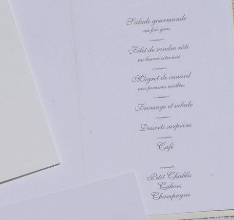 détail intérieur menu Arles