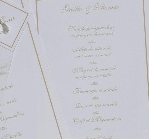 détail intérieur menu Sisteron