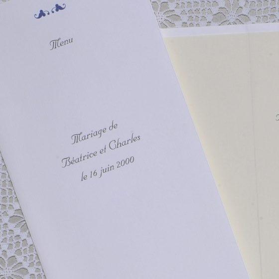 détail couverture menu Vauvenargues