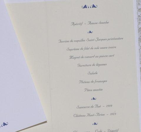 détail intérieur menu Vauvenargues